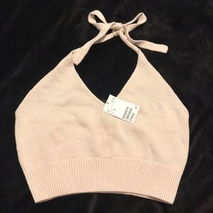 H&M knitted halter top